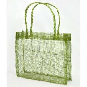 Green Sinamay Mini Tote Bags 12 Pack Fabric: Everything Else