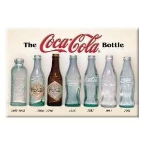 COKE Bottle History 1899 to 1991 Metal Tin Sign