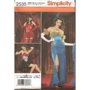 Simplicity Pattern # 2535 Misses Costume Dresses (Size 8