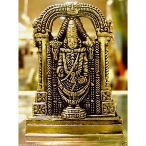 Brass Statue Lord Venkateswara Hindu God Tirupati Balaji