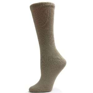 Sole Pleasers Womens Tan Diabetic Crew Socks   3 pairs [Health and