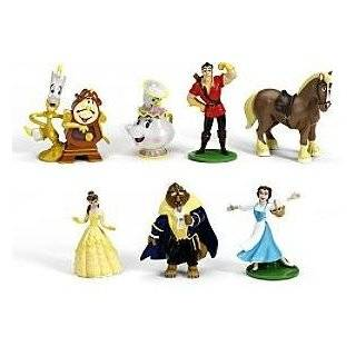 Disney Princess Beauty and The Beast 8 Figurine Set  Toys & Games