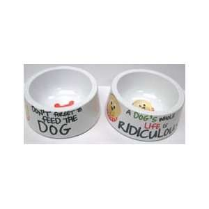 Funny Dog Pet Bowl Set Water and Food Dishes Kitchen
