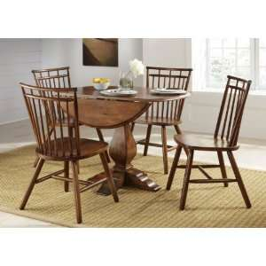 Creations II Round Drop Leaf Pedestal Dining Table by Liberty