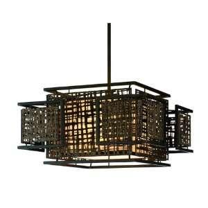 Shoji Collection 3 Light 24 Bonsai Bronze Energy Star Pendant with