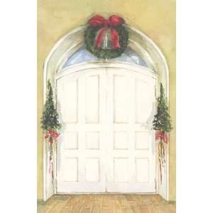 Double Doors, Custom Personalized Christmas Invitation, by