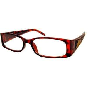 Womens Reading Glasses +3.50 Tortoise Frame Beautiful Stone Design on