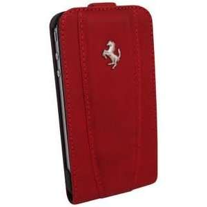 Ferrari Red California Leather iPhone Case w/Flap Cell