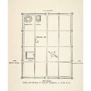 Salassorum Blueprint Floor Plan   Original Lithograph