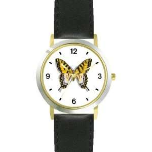WATCH   Arabic Numbers   Black Leather Strap Size Womens Size Small