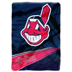 Indians 60x 80 Super Plush Throw (Speed Series)