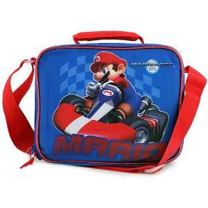 Super Mario Mariokart Wii Lunch Bag [Blue] Toys & Games
