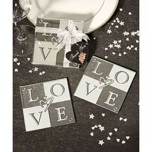 Coasters  LOVE Glass Coasters (Set of 2) (144 And Up