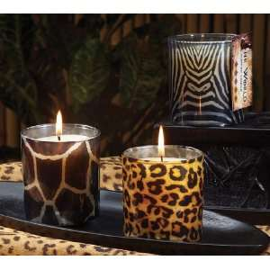 Nights Scented Assorted Animal Print Glass Candles