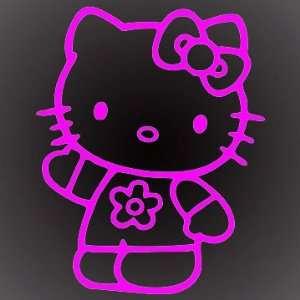 HELLO KITTY WAVE PINK DECAL STICKER 6X5