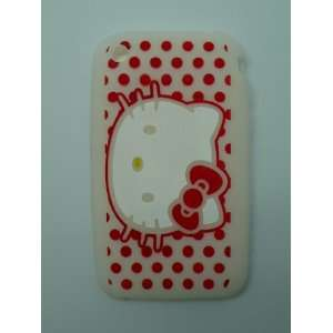 Hello Kitty Silicone case for iphone 3G   White Cell Phones