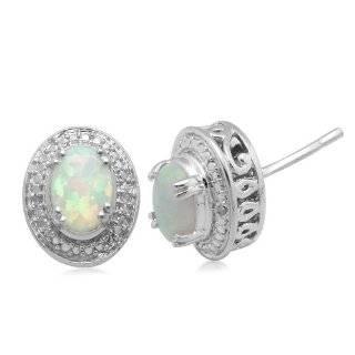 Sterling Silver Created White Opal Inlay Teardrop Earrings