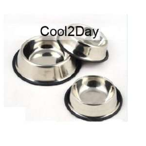 Stainless Steel Food Water Bowl Dish for Dog or Cat Pet