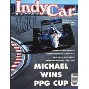 Michael Andretti Signed 1991 Indy Car Magazine Psa Coa