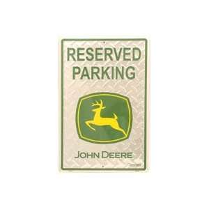 John Deere Metal Parking Sign 12 x 18