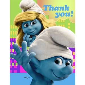 Smurfs Birthday Party Thank You Notes Toys & Games
