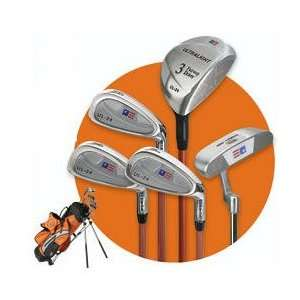 US Kids Ultralite Series 5 Piece Golf Set With Stand Bag