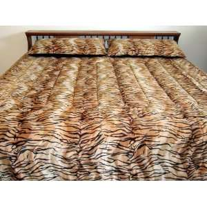 Tiger  Faux Fur Comforter  King Size: Home & Kitchen