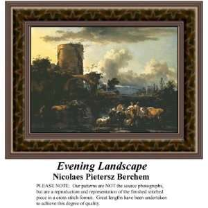 Evening Landscape, Counted Cross Stitch Patterns PDF