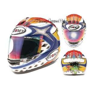 SUOMY SPEC 1R EXTREME CHIEF MOTORCYCLE HELMET BLUE SM