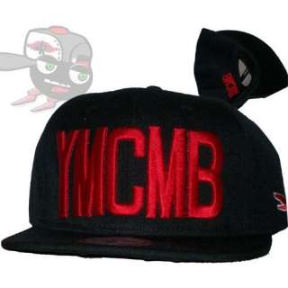 YMCMB Red on Black Snapback Hat Cap Lil Wayne Drake