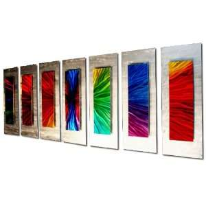 Wall Accents for Living Room   Colorful Metal Wall Art