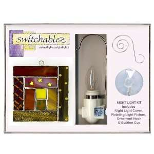 Log Cabin Quilt   Stained Glass Night Light Kit: Everything Else