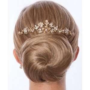 Gold and Rhinestone Spanish Inspired Bridal Hair Comb