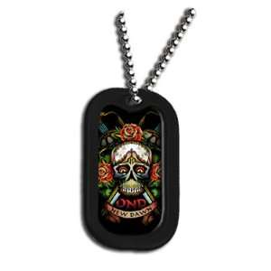 Military Dog Tag Luggage Tag Key Chain Metal Chain Necklace Pet