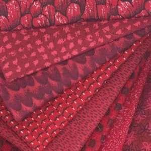 Fat Quarter Packs Monet Dark Red By The Assortment Arts