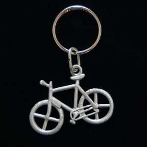 Mountain Bike Pewter Bicycle Key Ring