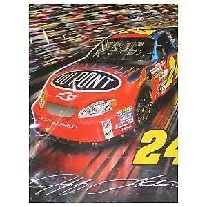 JEFF GORDON 50 x 60 NASCAR #24 Logo Super Soft PLUSH