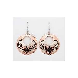 Copper Earrings   Southwestern Native American Arts