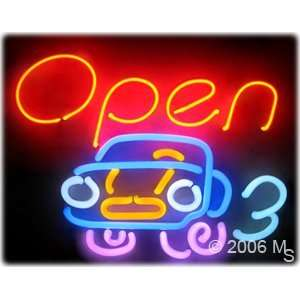 Neon Sign   OPEN (Car Logo)  Large 15 x 20  Grocery