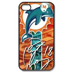 Designed iPhone 4/4s Hard Cases Dolphins team logo Cell