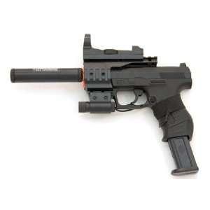 Spring Walther P99 Pistol FPS 150, Red Dot, Silencer Airsoft Gun