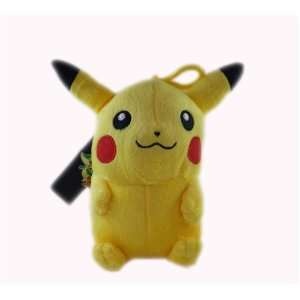 com Pokemon Black & White Pikachu Clip On 7 Plush Doll Toys & Games