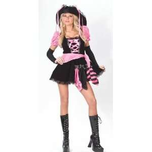 Teen Womens Girls Pink Punk Pirate Costume & Hat 0 9 XS Toys & Games