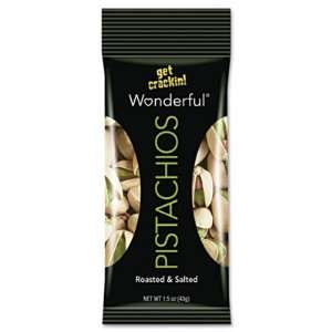 Wonderful Pistachios Roasted and Salted Pistachios, 1.5 Ounce bags