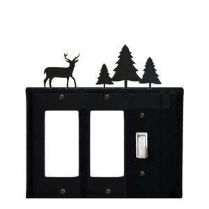 Monazite EGGS 203 Deer and Pine Trees   Double GFI and