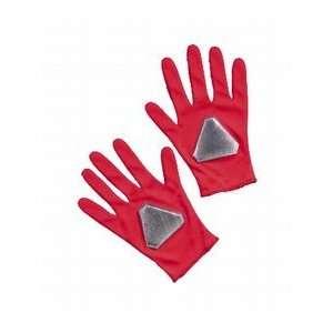 Childs Red Power Ranger Costume Gloves Toys & Games