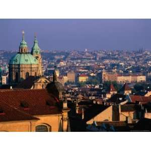 View of City from the Rooftops, Prague, Central Bohemia, Czech