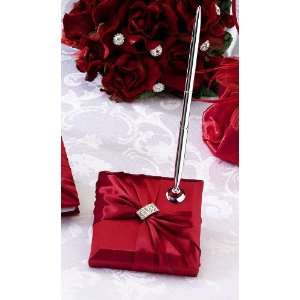 PEN610R   Satin Rhinestone Pen Set   Red