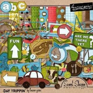 Digital Scrapbooking Kit Day Trippin by Lauren Grier