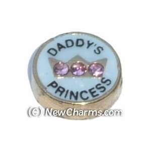 Daddys Princess Floating Locket Charm Jewelry